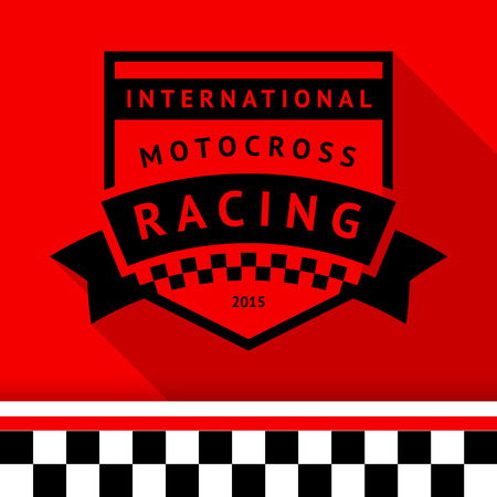 Racing stamp-14 illustration Vector
