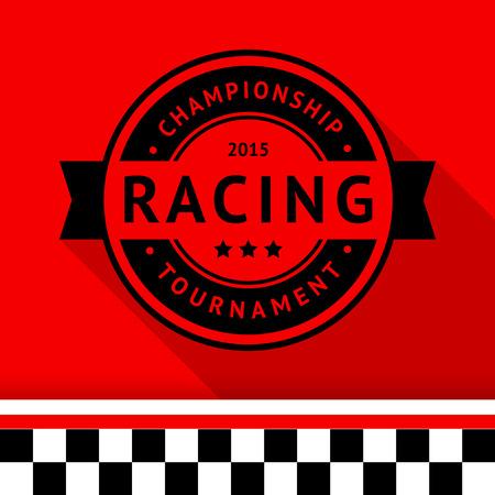 Racing stamp-15 illustration Vector