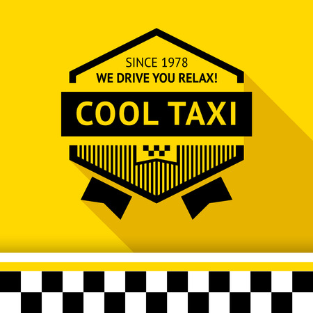 chequerboard: Taxi badge 02 illustration Illustration