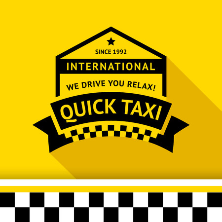 Taxi badge 05 illustration Stock Vector - 26703952