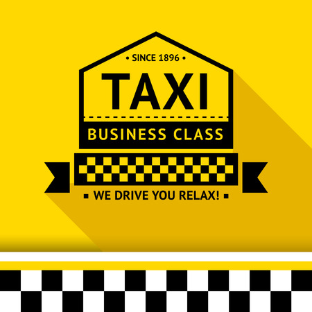 new york taxi: Taxi badge with shadow - 08 illustration
