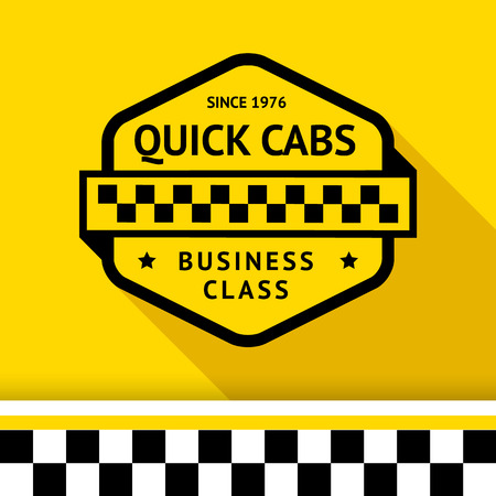 chequered ribbon: Taxi badge 01 illustration