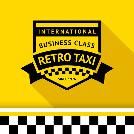 Taxi badge 04 illustration Stock Vector - 26705110