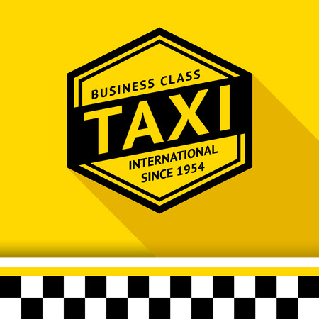 chequerboard: Taxi badge 07 illustration