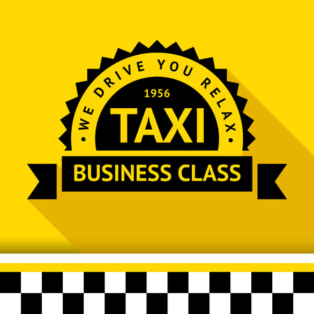 Taxi badge with shadow - 09 illustration