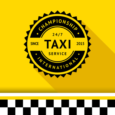 Taxi badge with shadow - 10 illustration