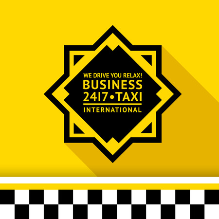 Taxi badge with shadow - 11 illustration