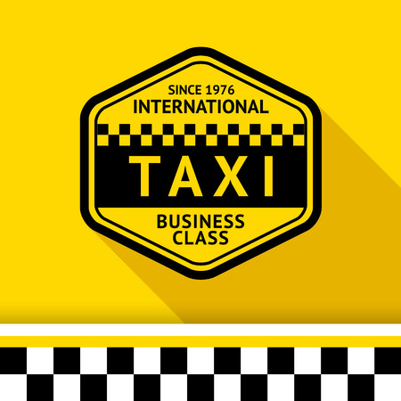 Taxi badge with shadow - 12 illustration