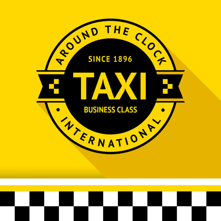 Taxi badge with shadow - 13 illustration