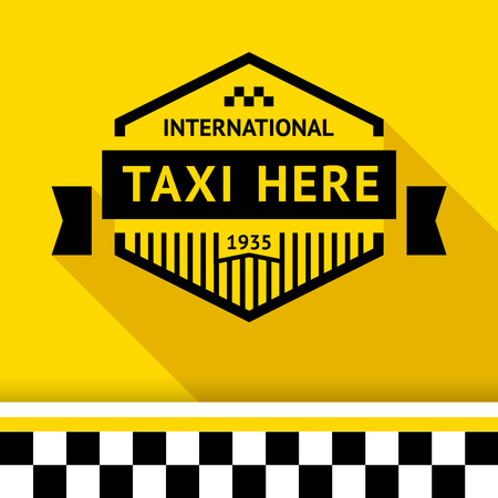 chequerboard: Taxi badge with shadow - 14 illustration Illustration