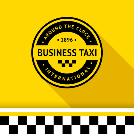 Taxi badge with shadow - 15 illustration