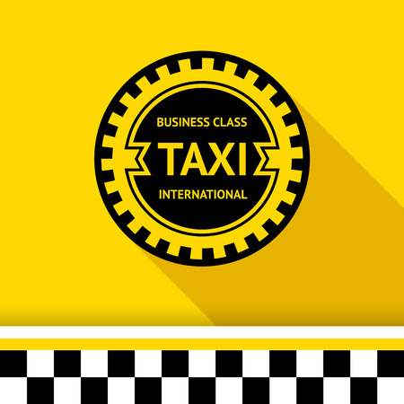 Taxi badge with shadow - 16 illustration Vector