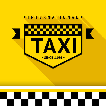 Taxi badge with shadow - 17 illustration