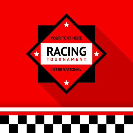 Racing badge 02 illustration Vector