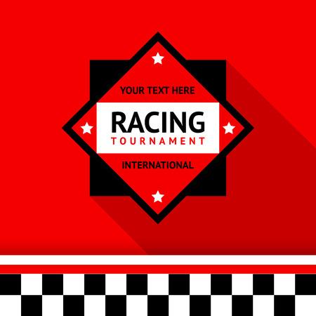 Racing badge 02 illustration Stock Vector - 26705125