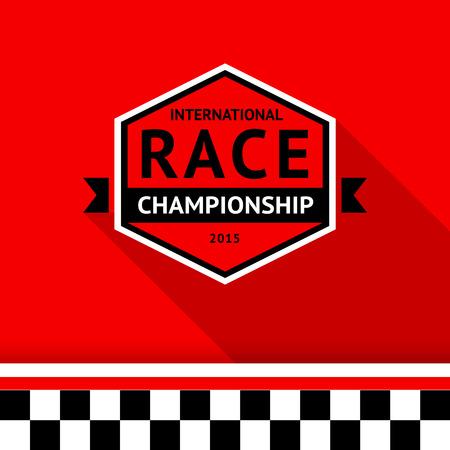 Racing badge 03 illustration Stock Vector - 26705126