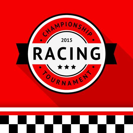 racing sign: Racing badge 04 illustration Illustration