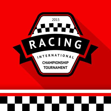 Racing badge 05 illustration Vector