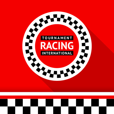 racing car: Racing badge 06 illustration
