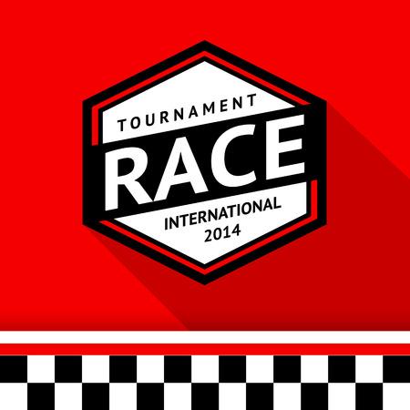 motorsport: Racing badge 07 illustration