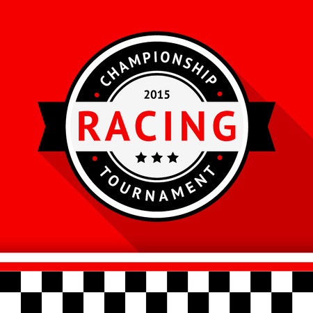 Racing badge 09 illustration Vector