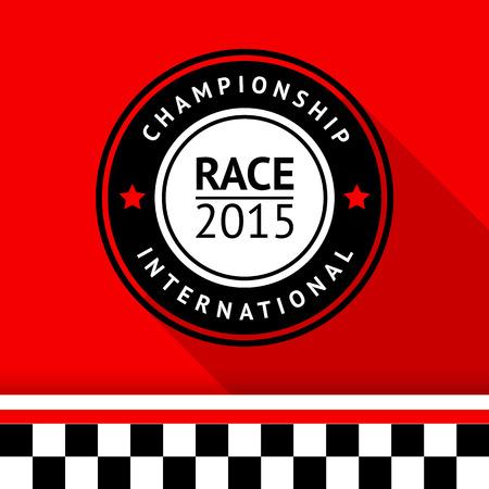 motorsport: Racing badge 11 illustration