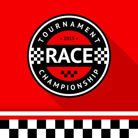 Racing badge 14 illustration Vector