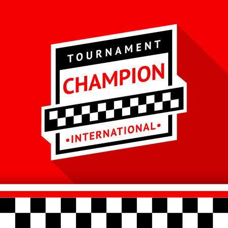 Racing badge 15 illustration