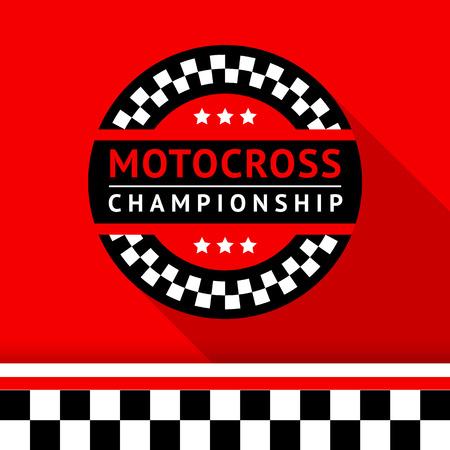 Racing badge 18 illustration Vector