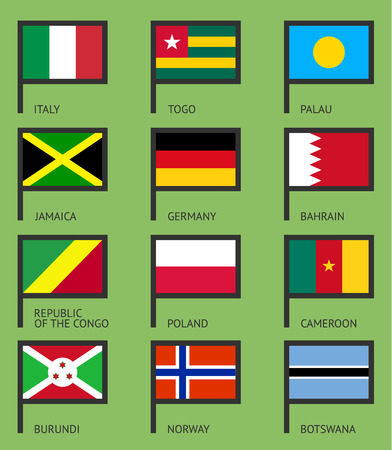 Flags of the world, flat vector illustration.  Vector