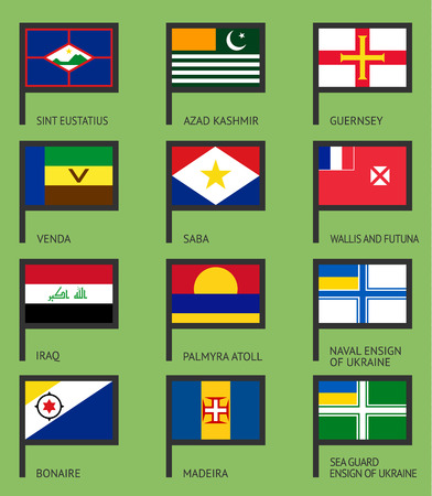 Flags of the world, flat vector illustration.  Ilustração