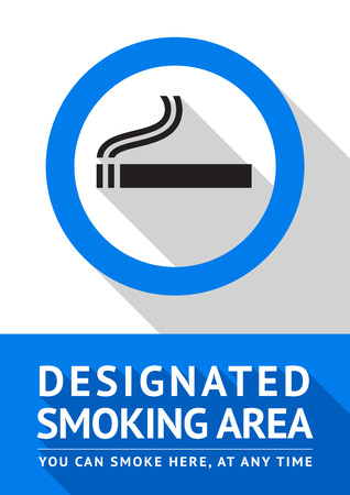 Label smoking area label, vector illustration Vector