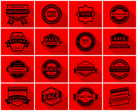 Racing badge set, vector illustration Vector