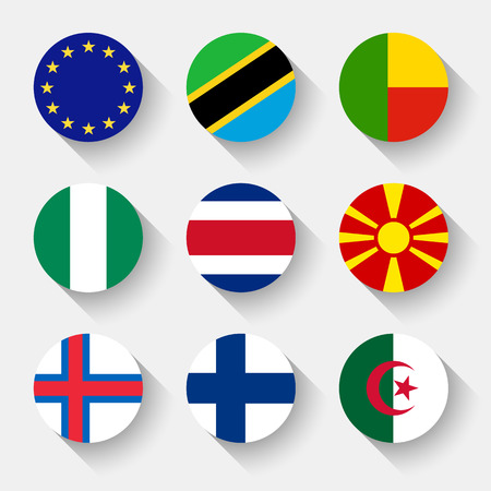 bandera de costa rica: Banderas del mundo, establecer 03 con la sombra
