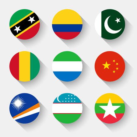 la bandera de colombia: Banderas del mundo, establecido el 13 con la sombra