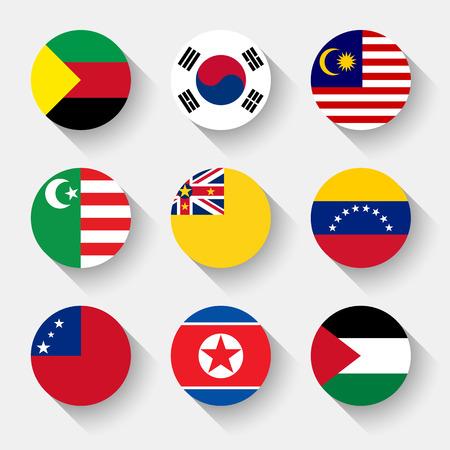 bandera de venezuela: Banderas del mundo, establecido el 22 con la sombra Vectores