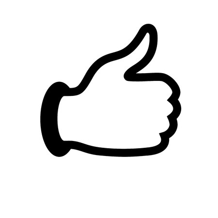 caller: thumbs up icon Illustration