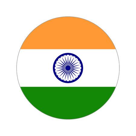 Vlag, vectorillustratie circulaire vorm op witte achtergrond Stock Illustratie