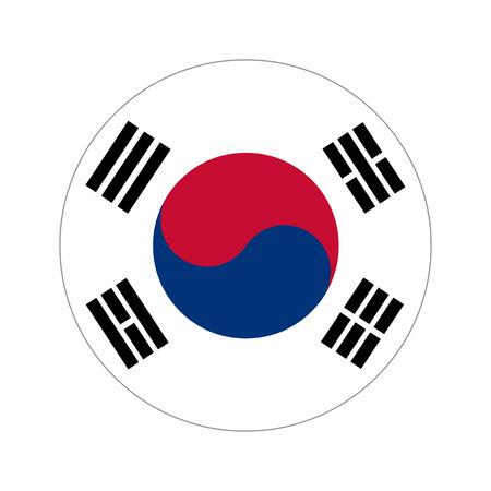 flag: Flag, vector illustration circular shape on white background