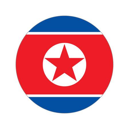 korea flag: Flag, vector illustration circular shape on white background