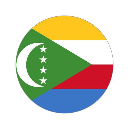 peaks: Flag, vector illustration circular shape on white background