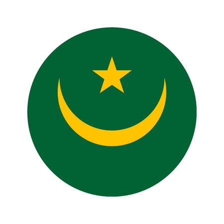 Flag, vector illustration circular shape on white background