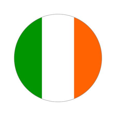 destination: Flag, vector illustration circular shape on white background