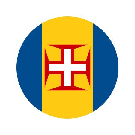 Flag, vector illustration circular shape on white background Banco de Imagens - 77035711