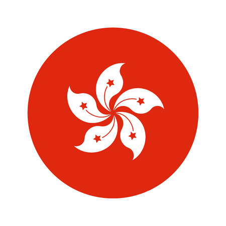 world heritage: Flag, vector illustration circular shape on white background