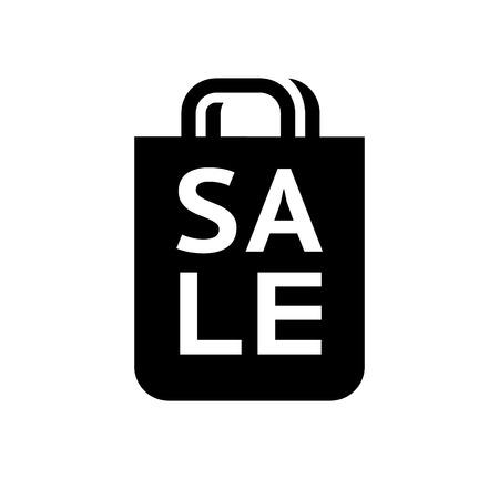 shop sign: Shopping icon. Symbol black on white background