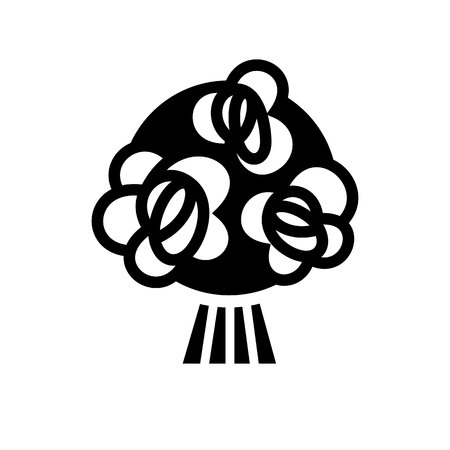 romance: Love symbol. Valentines Day sign, black emblem isolated on white background, flat style.