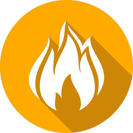 A fire bonfire flame circle shape vector illustration.