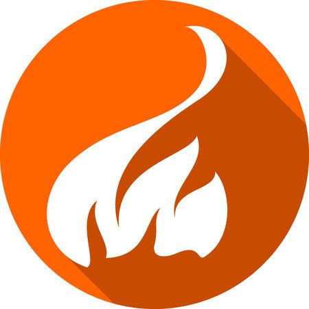 A fire bonfire flame circle shape  vector illustration. Illustration
