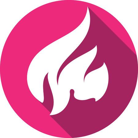 flammable warning: A fire bonfire flame circle shape vector illustration.